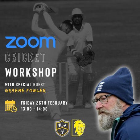 Cricket Workshop With Graeme Fowler