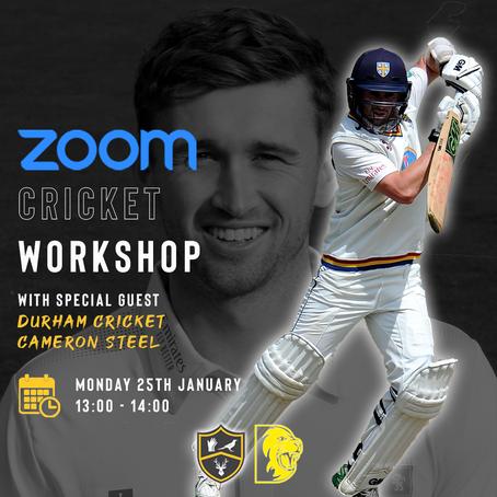 Cricket Workshop With Durham Cricket Batsman Cameron Steel