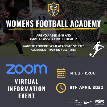 Women's Football Academy Virtual Information Event
