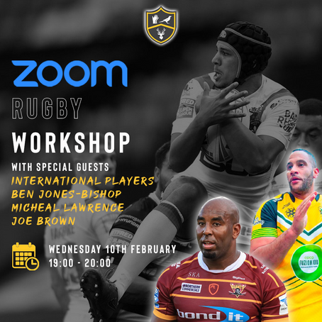 Rugby Workshop With Three International Players