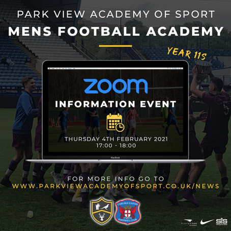 U16 Mens Football Academy Information Event