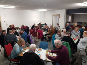 Volunteers have a three course meal for under £3