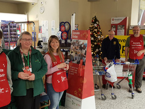 NOVEMBER TESCO COLLECTION - 4.7 tonnes generously donated by shoppers and businesses