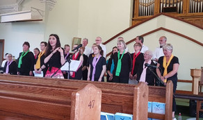 Harlequin Choir support the Foodbank at Lorton Street Methodist Church, Cockermouth