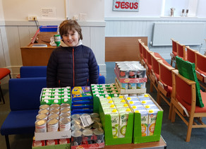Carol Singing proceeds are turned into food at Wigton