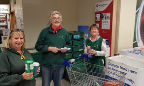 Food collection - Tesco Workington - Over a tonne of food collected.