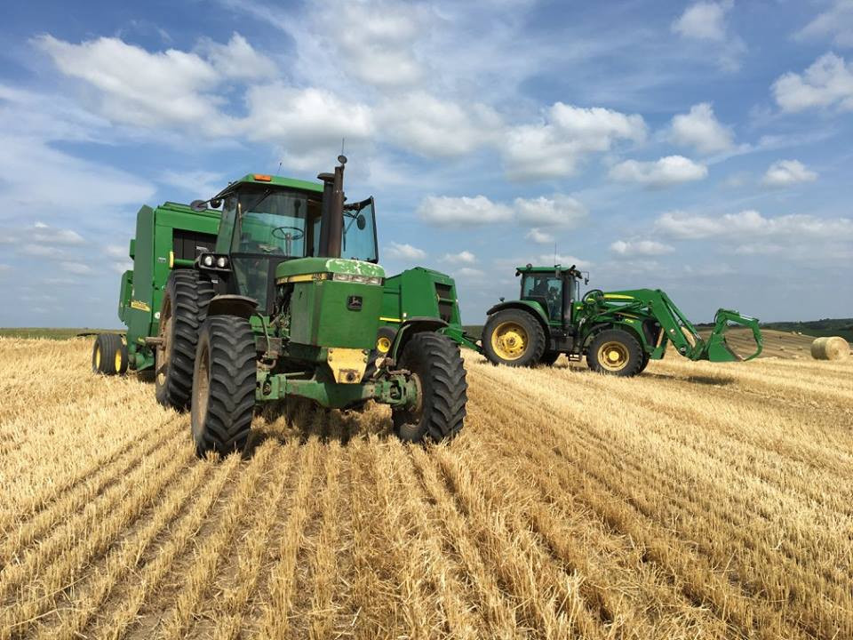 Bailing Wheat