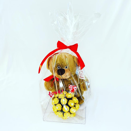 I Love You Teddy Bouquet
