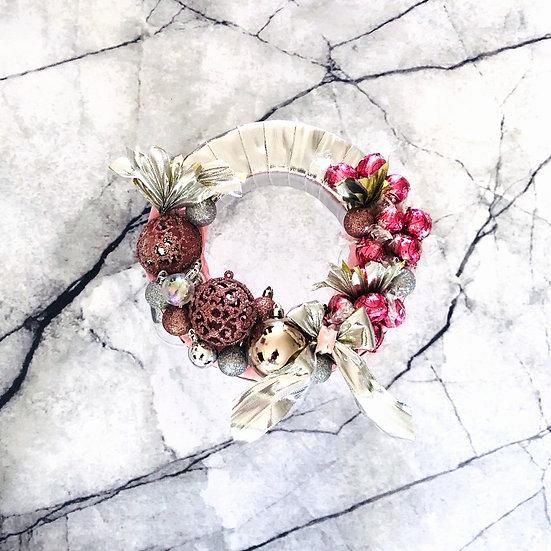 Pretty & Pink Christmas Wreath