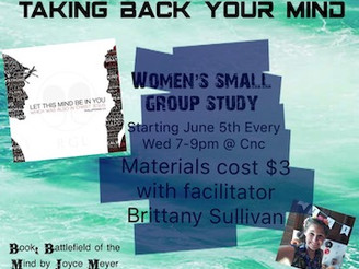 New Women's Small Group begins June 5