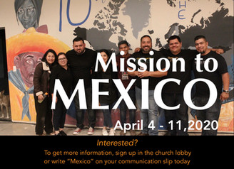 2020 Mexicali Missions Trip Update