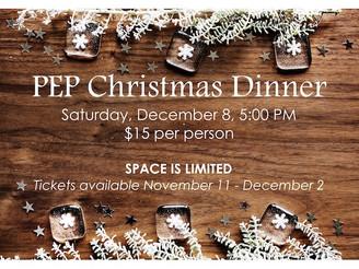 Annual PEP 55+ Christmas Dinner