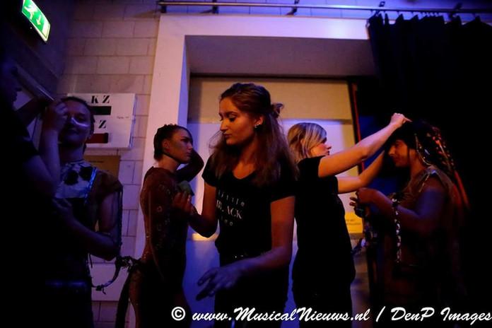 backstage Peter Pan musical
