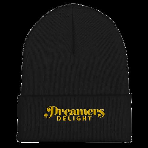 Dreamers Delight - Black & Gold Cuffed Beanie