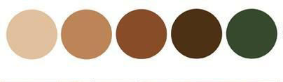 Brown and Green Color Palette for Fall.j