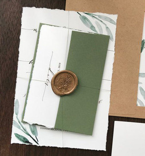 Elegant Greenery Wedding Invitation Set