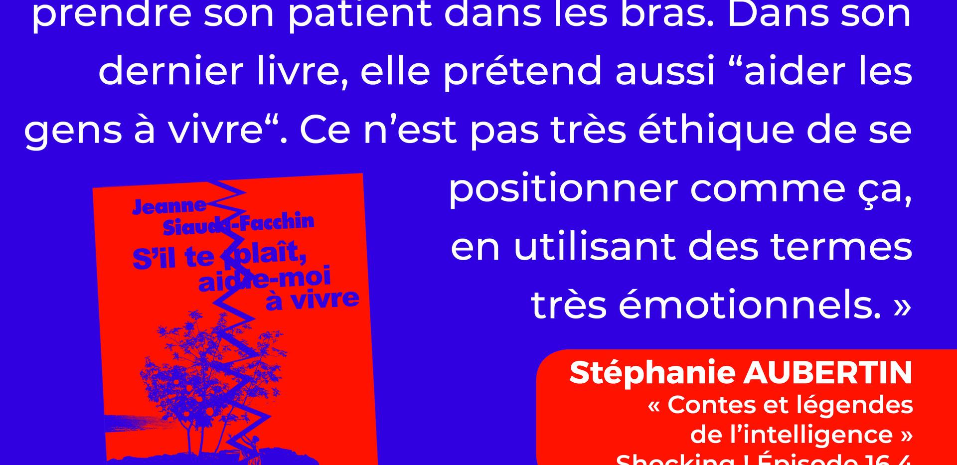 Jeanne Siaud-Facchin à la dérive
