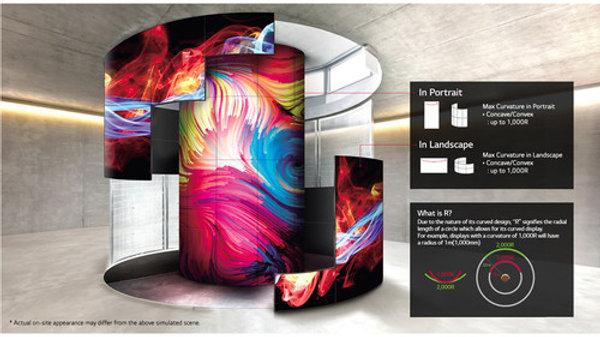 """LG 55EF5E 55"""" Flexible Curved Open-Frame OLED Signage Display (Landscape)"""