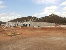 Prefabricated sandwich panel house in Bolivia