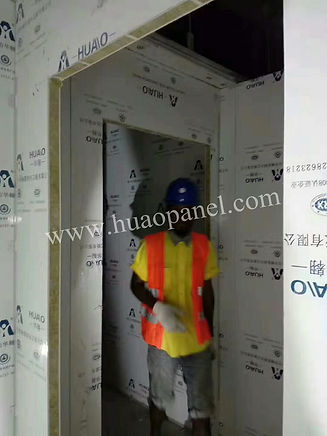 sandwich panel installed in south america