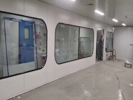 clean room double hollow glass window