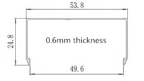 0.6mm u channel