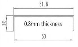 0.8mm aluminum channel