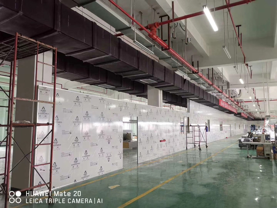 sandwich panel for mask production factory