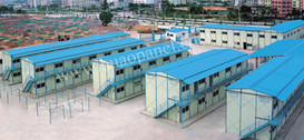 prefabricated house labor camp in India