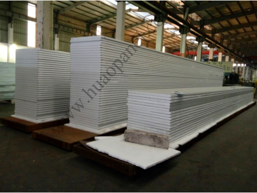 What are the fire safety requirements of using foam sandwich panels as temporary building materials?