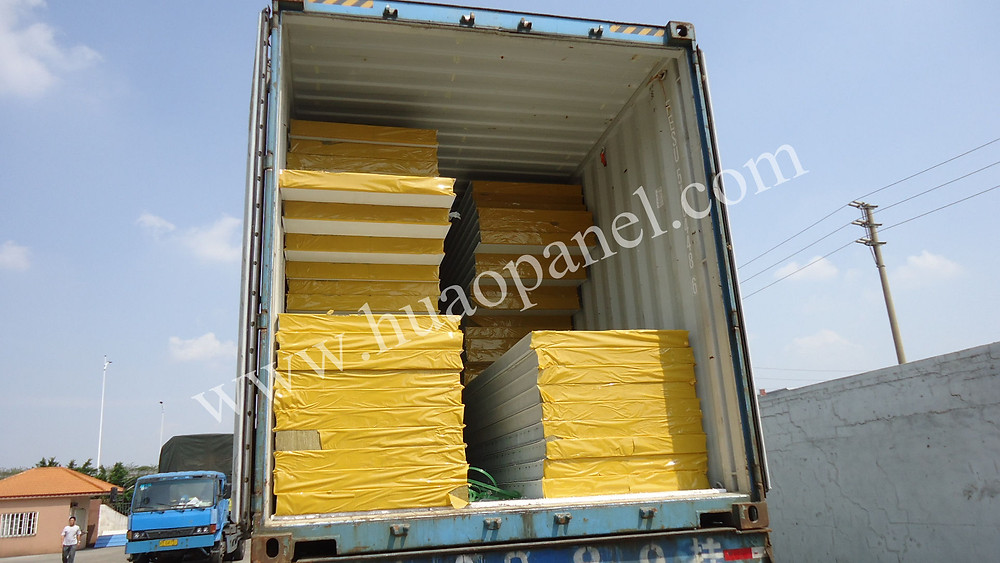 rockwool-sandwich-panel-shipment