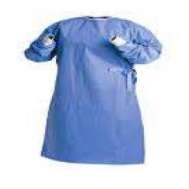 bata quirurgica con resorte