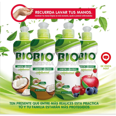 Jabón antibacterial 350ml. Avena y frutos