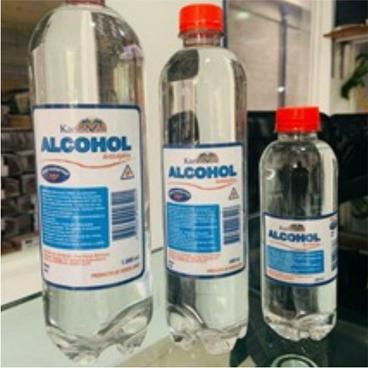 Alcohol de 600ml botella pet