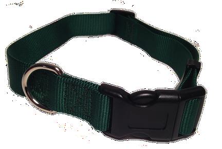 Nylon Dog Collar Plastic Clip - Green
