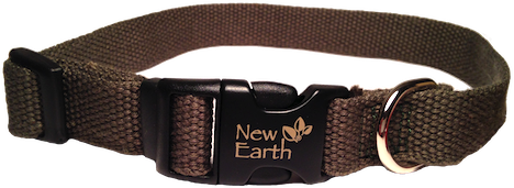 New Earth Dog Collar Plastic Clip - Green