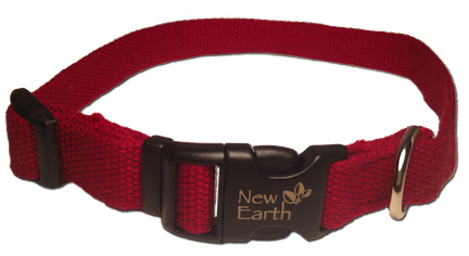 New Earth Dog Collar Plastic Clip - Dark Red