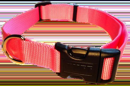 Nylon Dog Collar Plastic Clip - Light Pink