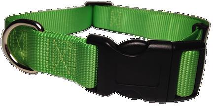 Nylon Dog Collar Plastic Clip - Bright Green
