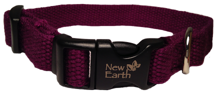 New Earth Dog Collar Plastic Clip - Purple