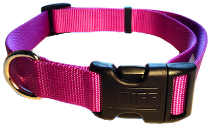 Nylon Dog Collar Plastic Clip - Light Purple