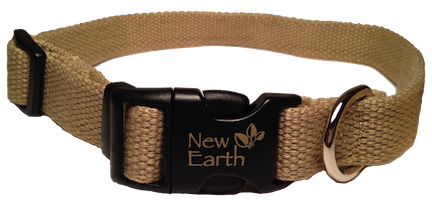 New Earth Dog Collar Plastic Clip - Tan