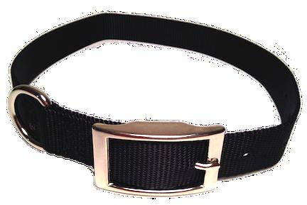 Nylon Dog Collar Metal Buckle - Black