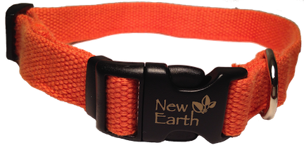 New Earth Dog Collar Plastic Clip - Orange