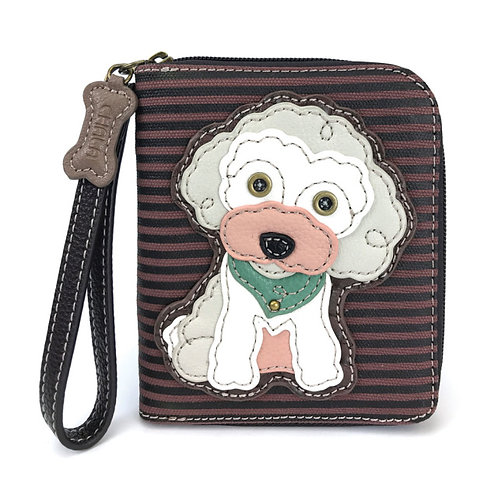 Zip Around Wallet - Poodle