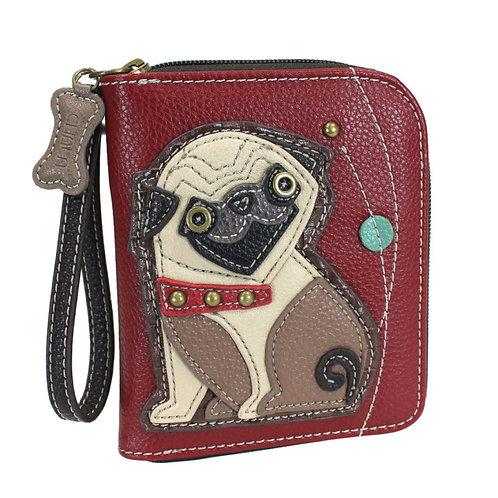 Zip Around Wallet - Pug
