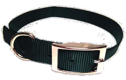 Nylon Dog Collar Metal Buckle - Green