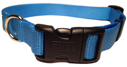 Nylon Dog Collar Plastic Clip - Light Blue
