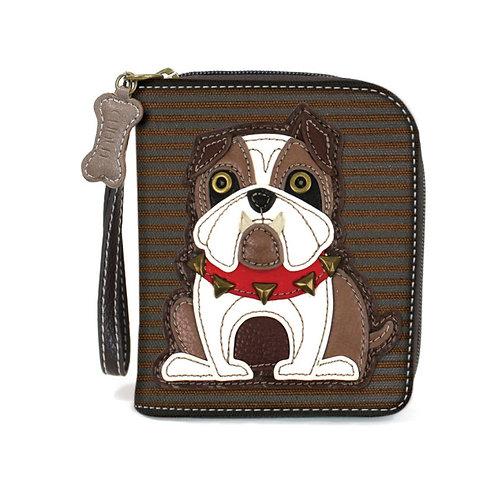 Zip Around Wallet - Bulldog