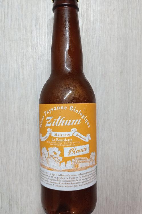 "Bière Bio ""Zithum"" Blonde"
